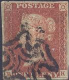 1841 1d Red SG8 Plate 31 'BK'